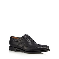 Loake - Black perforated leather brogues