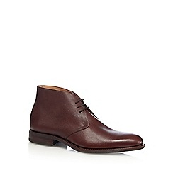 Loake - Brown 'Aquarius' grained leather boots