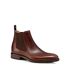 Loake - Brown 'Scorpio' stitched welt Chelsea boots
