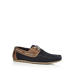 Red Tape - Navy 'Stratton' boat shoes