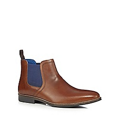 Red Tape - Tan 'Stockwood' Chelsea boots