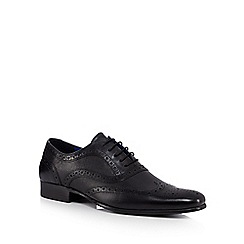 Red Tape - Black leather brogues