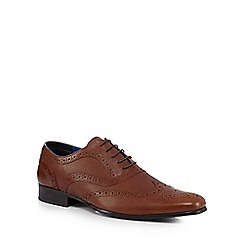 Red Tape - Tan leather perforated lace up shoes