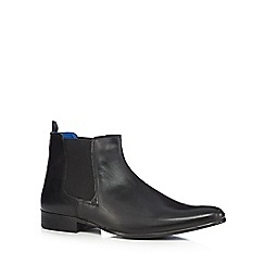 Red Tape - Black 'Wick' Chelsea boots