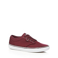Vans - Plum red 'Atwood' lace-up trainers