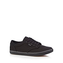 Vans - Black lace up canvas shoes