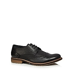 Lotus Since 1759 - Black leather 'Hatch' brogues