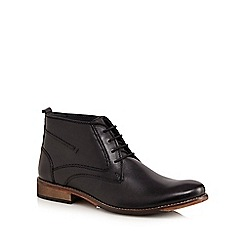 Lotus Since 1759 - Black 'Noah' leather chukka boots