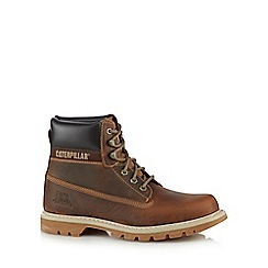 Caterpillar - Dark tan 'Colorado' ankle boots