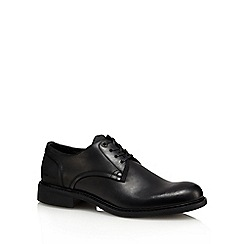 G-Star Raw - Black leather 'Dock' Derby shoes
