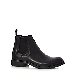 G-Star Raw - Black 'Warth' stud detailed Chelsea boots