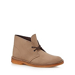 Clarks - Brown leather desert boots