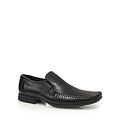 Clarks - Black leather 'Ferro Step' slip-on shoes