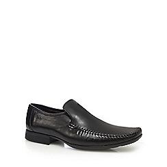 Clarks - Black leather 'Ferro Step' slip-on shoes