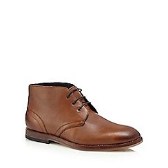 H By Hudson - Brown 'Houghton 2' leather chukka boots