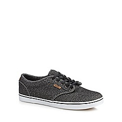 Vans - Black canvas 'Atwood' trainers