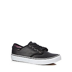 Vans - Black leather 'Camden' trainers