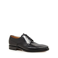 Loake - Black leather seamed shoes