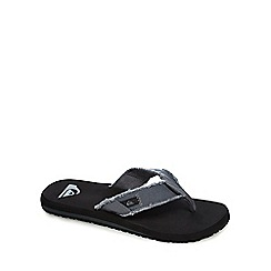 Quiksilver - Grey distressed flip flops