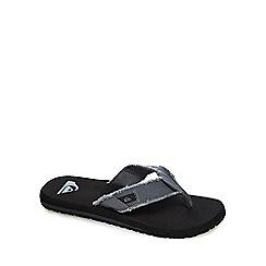 Quiksilver - Grey distressed flip flops