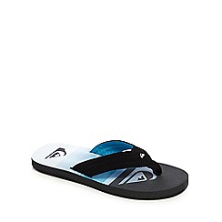Quiksilver - Black and blue quilted flip flops