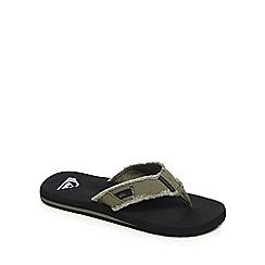 Quiksilver - Khaki distressed flip flops