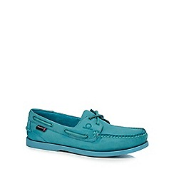 Chatham Marine - Light blue suede boat shoes