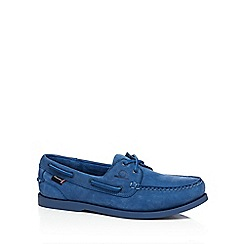 Chatham Marine - Blue suede boat shoes