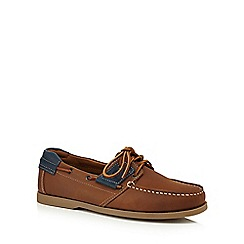 Chatham Marine - Tan leather 'Aruba' boat shoes