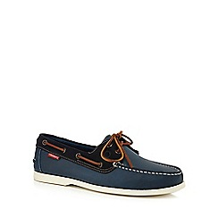 Chatham Marine - Navy leather 'Galley' boat shoes