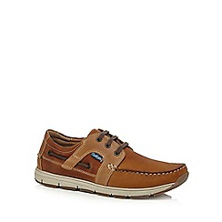Chatham Marine - Tan leather 'Byron' boat shoes
