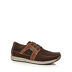 Chatham Marine - Brown leather 'Byron' boat shoes