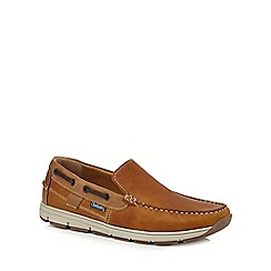 Chatham Marine - Tan leather 'Avery' boat shoes