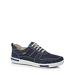Chatham Marine - Blue leather 'Recoil' trainers