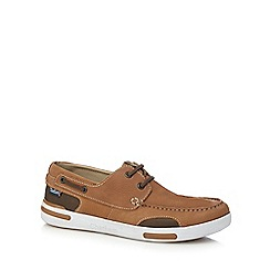 Chatham Marine - Brown leather 'Bounce' boat shoes