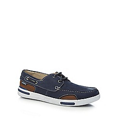Chatham Marine - Navy leather 'Bounce' boat shoes