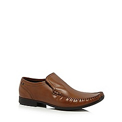 Base London - Tan leather 'Acrobat' slip-on shoes