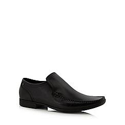Base London - Black leather 'Acrobat' slip-on shoes
