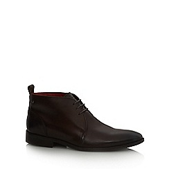Base London - Brown leather 'Devon' chukka boots