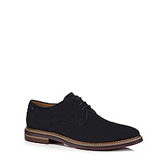Base London - Navy suede 'Blake' Derby shoes
