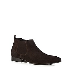 Base London - Brown suede 'Broker' Chelsea boots
