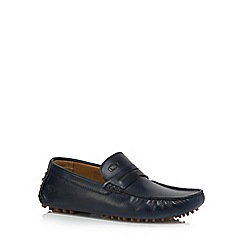 Base London - Blue leather 'Morgan' driving shoes