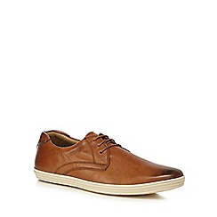 Base London - Tan leather 'Concert' lace up shoes