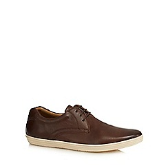 Base London - Brown leather 'Concert' lace up shoes