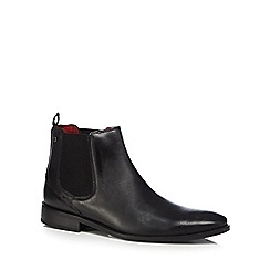 Base London - Black leather 'Cheshire' Chelsea boots