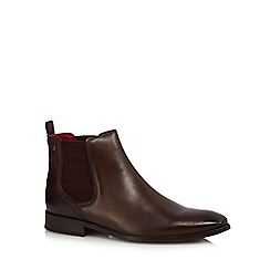 Base London - Brown leather 'Cheshire' Chelsea boots