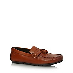 Base London - Brown leather 'Panama' loafers