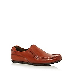 Base London - Tan leather 'Cuba' slip-on shoes