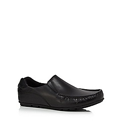 Base London - Black leather 'Cuba' slip on shoes