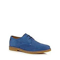 Base London - Blue suede 'Whitlock' Derby shoes